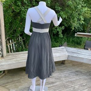 Max & Cleo Dresses - Slate Grey with soft grey party dress